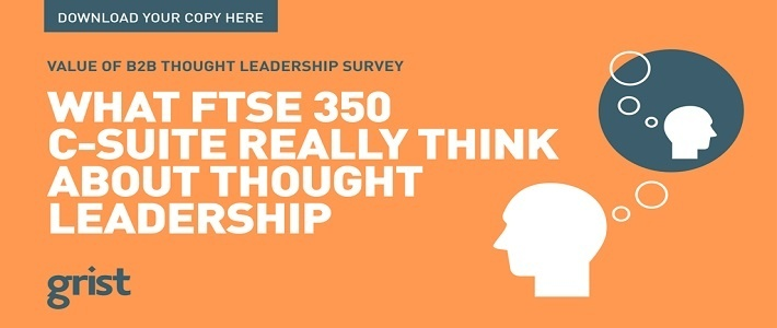 Value of B2B Thought Leadership Surve