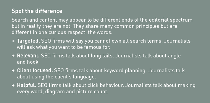 the similarities between content and SEO