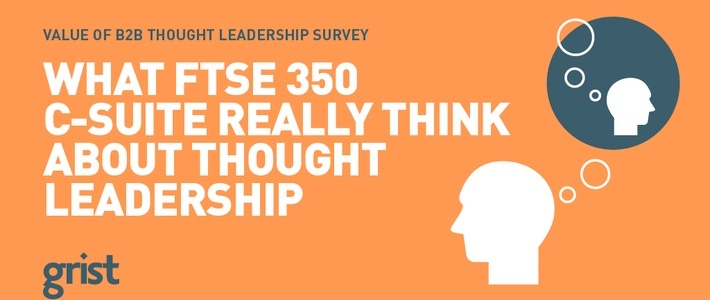 The Value of B2B Thought Leadership Survey